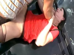 Olga Gets One Hell Of A Mouthful Of Schlong